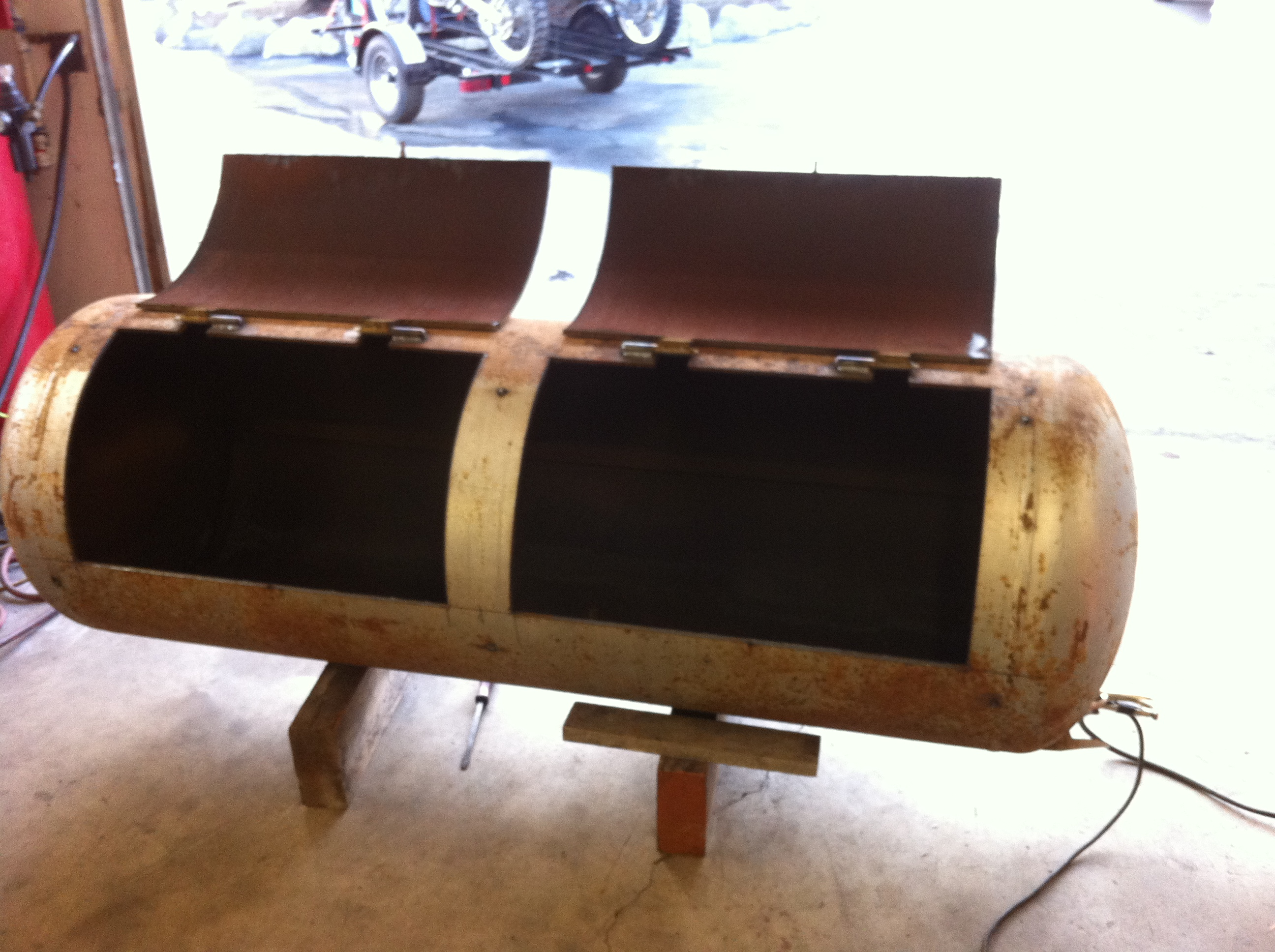 building a 175 gallon bbq smoker with my plasma cutter and welder