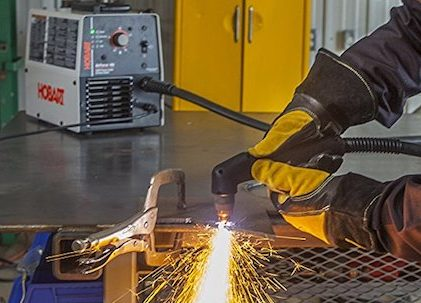 Cutting test of the Hobart 40i plasma cutter