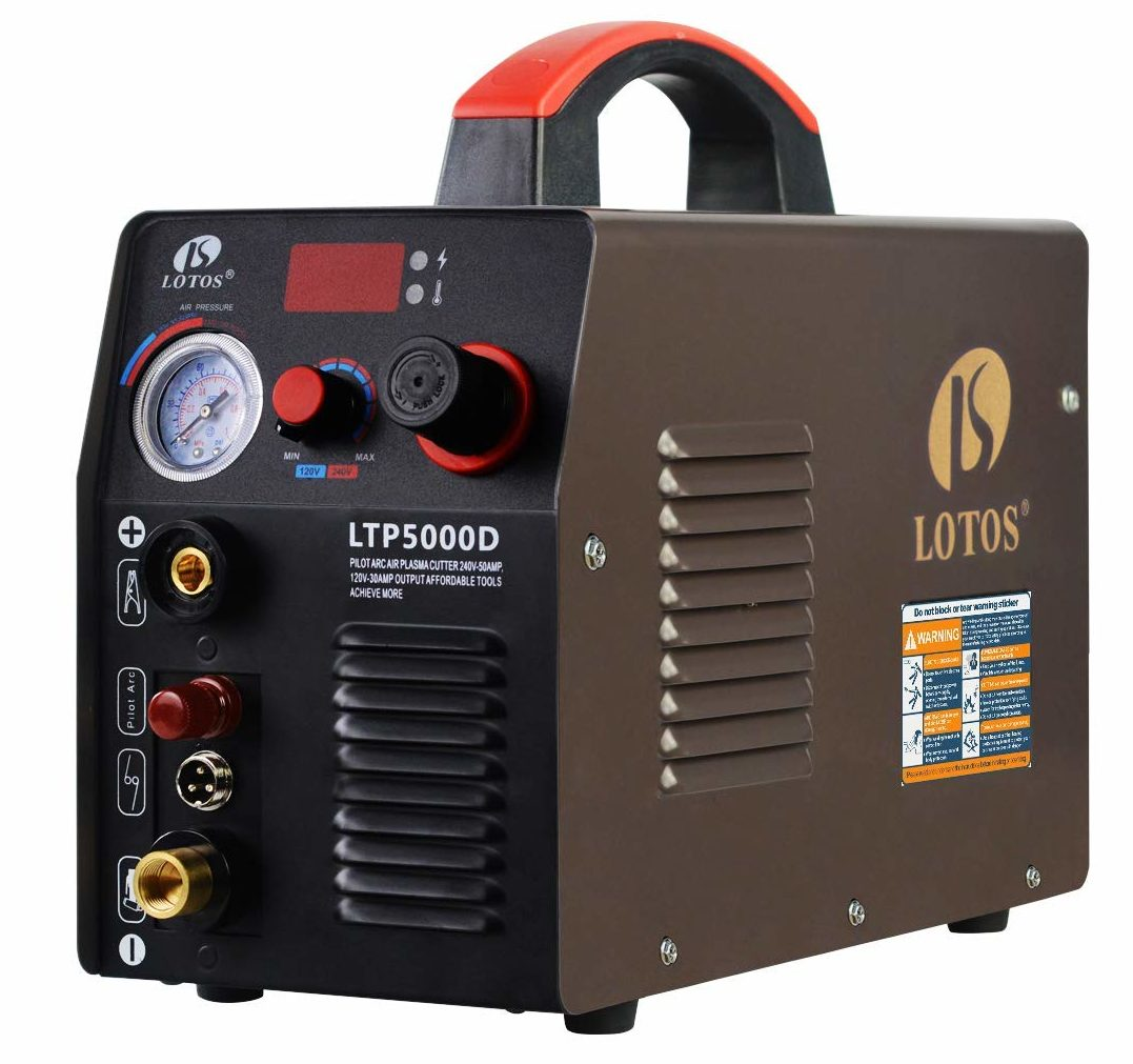 The new LOTOS LTP5000D is crowned our number one choice for the best cheap plasma cutter.